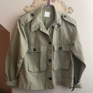 H&M MILITARY COAT WITH VINTAGE PINS